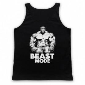Beast Mode Bodybuilding Gym Workout Slogan Adults Black Tank Top