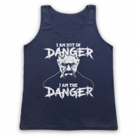 Breaking Bad I Am Not In Danger I Am The Danger Adults Navy Blue Tank Top