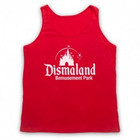 Banksy Dismaland Bemusement Park Adults Red Tank Top