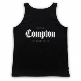 City Of Compton Los Angeles Adults Black Tank Top