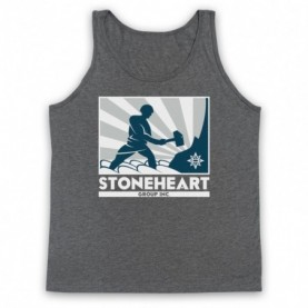 Strain Stoneheart Group Man Hammer Logo Adults Heather Grey Tank Top