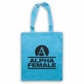 Alpha Female Womens Fitness Gym Workout Slogan Light Blue Tote Bag