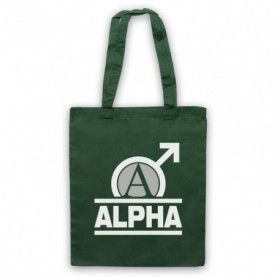 Alpha Male Bodybuilding Gym Workout Slogan Dark Green Tote Bag