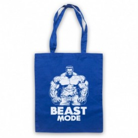 Beast Mode Bodybuilding Gym Workout Slogan Royal Blue Tote Bag