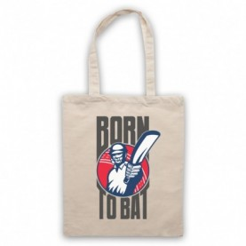 Born To Bat Cricket Slogan Natural Tote Bag