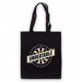 Darts Unbeatable Darts Slogan Black Tote Bag