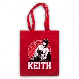 Rolling Stones Keith Richards Guitarist Red Tote Bag