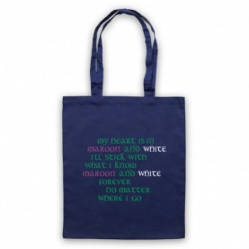 Saw Doctors Galway & Mayo Maroon & White Forever Navy Blue Tote Bag