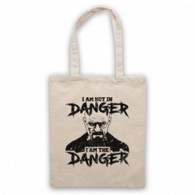 Breaking Bad I Am Not In Danger I Am The Danger Natural Tote Bag