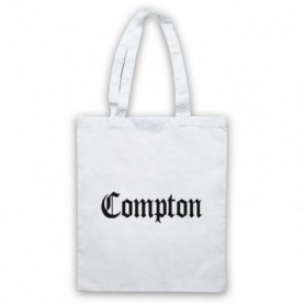 Compton Text Logo White Tote Bag