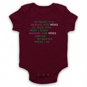 Saw Doctors Galway & Mayo Maroon & White Forever Maroon Baby Grow