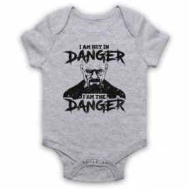 Breaking Bad I Am Not In Danger I Am The Danger Heather Grey Baby Grow