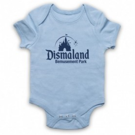 Banksy Dismaland Bemusement Park Light Blue Baby Grow