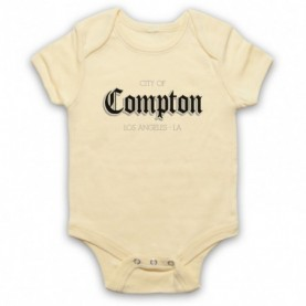 City Of Compton Los Angeles Light Yellow Baby Grow