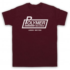 Spinal Tap Polymer Records Mens Maroon T-Shirt