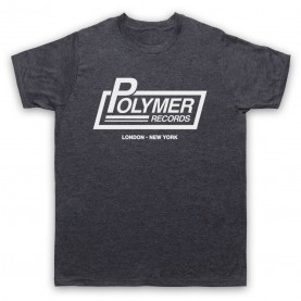 Spinal Tap Polymer Records Mens Heather Slate T-Shirt