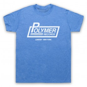 Spinal Tap Polymer Records Mens Heather Blue T-Shirt