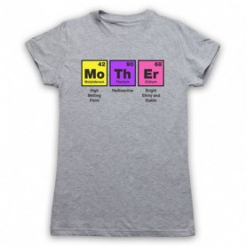 Mother Elements Periodic Table Funny Definitions Womens Heather Grey T-Shirt