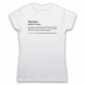Mother Dictionary Definition Kind Words Womens White T-Shirt
