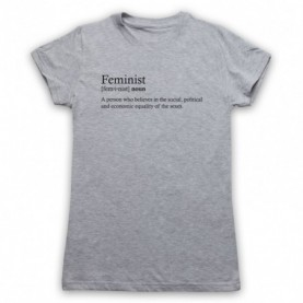Feminist Dictionary Definition Womens Heather Grey T-Shirt