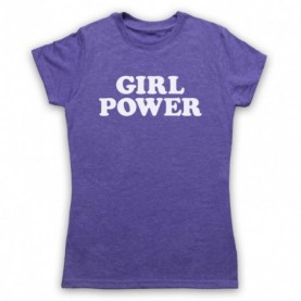 Girl Power Feminist Slogan Womens Heather Purple T-Shirt