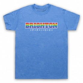 Brighton Pride LGBT Festival Mens Heather Blue T-Shirt