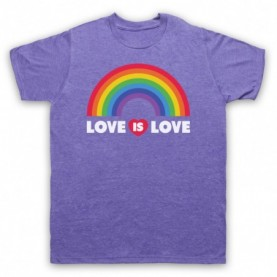 Love Is Love LGBT Pride Mens Heather Purple T-Shirt