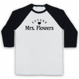 Future Mrs Flowers Brandon Flowers Killers Adults White & Black Baseball Tee