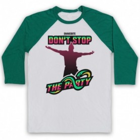 Peter Wright Snakebite Don't Stop The Party Adults White & Green Baseball Tee