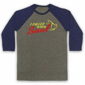 Better Call Saul I Called Saul Adults Grey & Navy Blue Baseball Tee