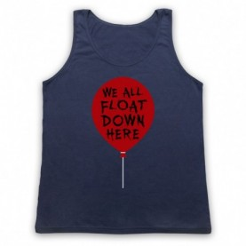 IT We All Float Down Here Red Balloon Adults Navy Blue Tank Top