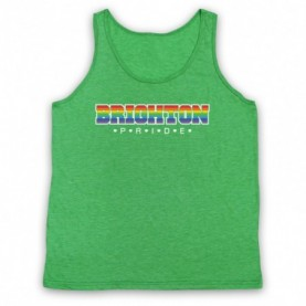 Brighton Pride LGBT Festival Adults Heather Green Tank Top