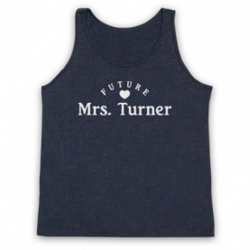 Future Mrs Turner Alex Turner Arctic Monkeys Adults Heather Navy Blue Tank Top