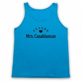 Future Mrs Casablancas Julian Casablancas Strokes Adults Neon Blue Tank Top