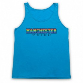 Manchester Pride LGBT Festival Adults Neon Blue Tank Top