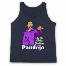 Big Lebowski Jesus Quintana Rolls Pandejo Adults Heather Navy Blue Tank Top