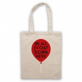 IT We All Float Down Here Red Balloon Natural Tote Bag