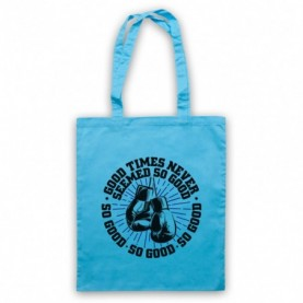 Boxing Chant Sweet Caroline Good Times Never Seemed So Good Light Blue Tote Bag