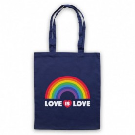 Love Is Love LGBT Pride Navy Blue Tote Bag