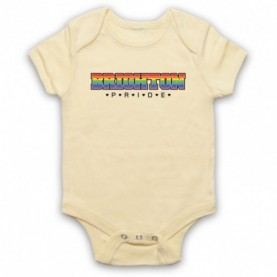 Brighton Pride LGBT Festival Light Yellow Baby Grow
