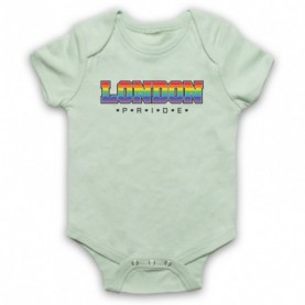 London Pride LGBT Festival Light Green Baby Grow