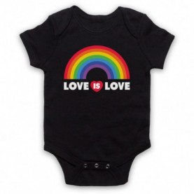 Love Is Love LGBT Pride Black Baby Grow