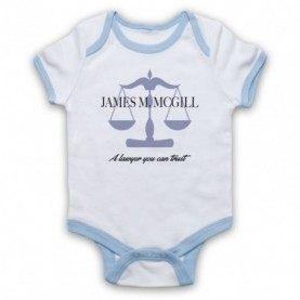 Better Call Saul James M McGill A Lawyer You Can Trust White & Light Blue Baby Grow