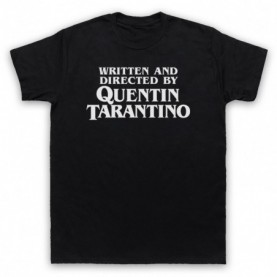 Pulp Fiction Credits Written And Directed By Quentin Tarantino Mens Black T-Shirt