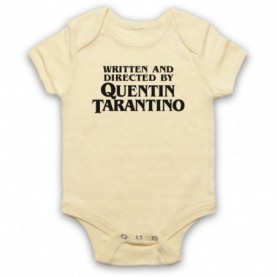 Pulp Fiction Credits Written And Directed By Quentin Tarantino Light Yellow Baby Grow