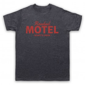 Schitt's Creek Rosebud Motel Mens Heather Slate T-Shirt