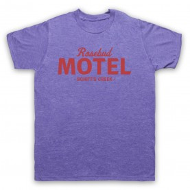 Schitt's Creek Rosebud Motel Mens Heather Purple T-Shirt