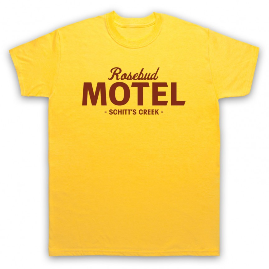 Schitt's Creek Rosebud Motel Mens Yellow T-Shirt