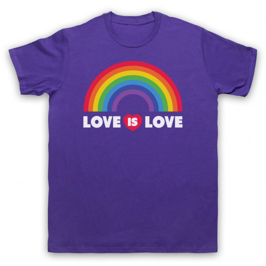 Love Is Love LGBT Pride Mens Purple T-Shirt