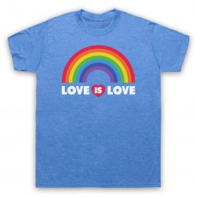 Love Is Love LGBT Pride Mens Heather Blue T-Shirt